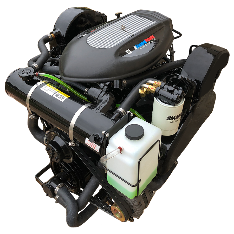 New 8.2L 502 Cid SportPac Right Hand (Counter Rotation) Inboard Marine Engine Package